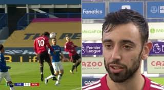 Bruno Fernandes Graciously Allows Marcus Rashford To Claim Goal v Everton