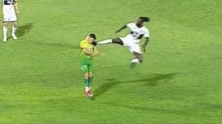 Emmanuel Adebayor Sent Off For A 'Flying Karate Kick' For New Team Olimpia In Paraguay