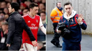 Mesut Ozil Reacts To Being Dropped From Arsenal Squad For Manchester City Game