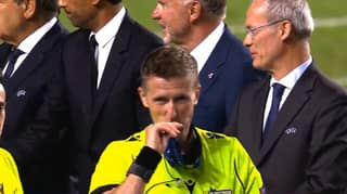 The Referee And Linesmen Were Seen Kissing Their Medals After The Champions League Final