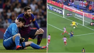 Barcelona's Official Twitter Account Respond To Thibaut Courtois' Lionel Messi Claim With Epic Video