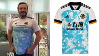 Wolves Fan Saves £55 By Making Homemade 2020/21 Away Shirt