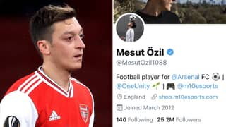 Mesut Ozil Likes Fan's Tweets Asking To 'Free Him' During Arsenal 0-3 Aston Villa