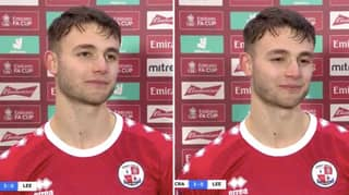Crawley's Nick Tsaroulla Gives Tearful Post-Match Interview After Scoring In FA Cup Third Round Win Over Leeds United