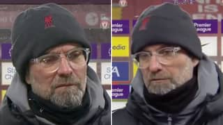 Jurgen Klopp's Interview With Geoff Shreeves Following Liverpool 1-4 Man City Was Incredibly Awkward