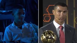 "Cristiano Ronaldo Jr's Reaction To His Father Saying He Wants ""To Look Like Me"" Is Priceless"