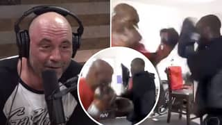 Joe Rogan Reacts To Mike Tyson Showing Off Incredible Speed And Power In New Training Clip
