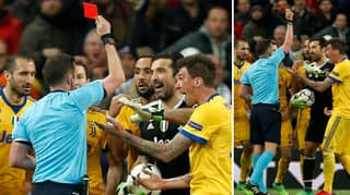 Gianluigi Buffon Goes In On Referee Michael Oliver After Sending Off