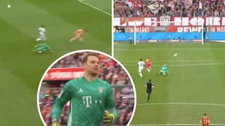 Manuel Neuer Runs 30 Yards Off His Line To Make Insane Sliding Tackle Against FC Koln
