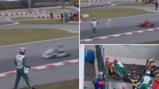 Luca Corberi Throws Bumper At Opposing Drivers In FIA ​​KZ World Championship, Starts Brawl After Race