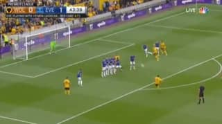 Ruben Neves Scores Stunning Free-Kick For Wolves
