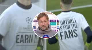 Leeds Players Wear 'Champions League: Earn It' T-Shirts Before Game Vs Liverpool