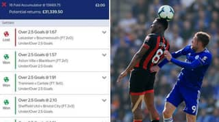 Punter Misses Out On £33,000 From £2 Bet On One Goal