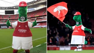 Arsenal Mascot Gunnersaurus Finally Returns To The Emirates Stadium
