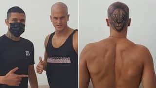 Uruguay Goalkeeper Sebastián Sosa Gets Lion Tattooed On His Head Following Battle With Coronavirus