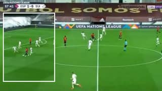 Adama Traore Goes On Ridiculous Dribble Seconds After Coming On As A Substitute For Spain