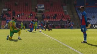 Wilfried Zaha Becomes First Premier League Player To Not Take A Knee Before Kick-Off