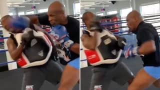 Mike Tyson's Ferocious Raw Power And Speed Nearly Knocks Out His Trainer
