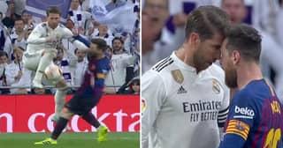 Chaos Ensues In El Clásico After Sergio Ramos Elbows Lionel Messi