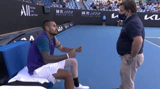 Nick Kyrgios Blows Up At 'Smarta***' Umpire Before Storming Off Court