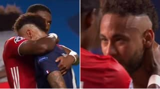 Neymar Consoled By David Alaba After Bayern Munich Beat Paris Saint-Germain In The Champions League Final