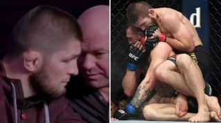 Footage Shows How Dana White Is Trying To Convince Khabib Nurmagomedov To Come Out Of Retirement