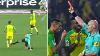 Ligue One Referee Receives His Punishment For Kicking Out At Nantes Player