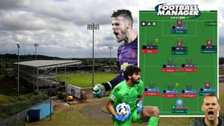 A Man Attempts To Avoid Relegation On Football Manager With Team Of World's Best Goalkeepers
