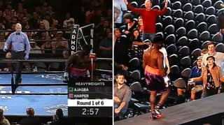 The Incredible Moment Boxer Left The Ring Straight After The Bell Rang