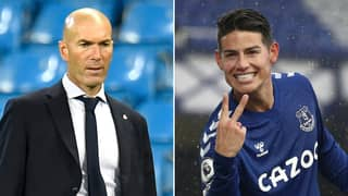 "Real Madrid Are ""Upset"" With Zinedine Zidane Because Of James Rodriguez's Sensational Everton Form"