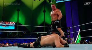 Brock Lesnar Destroys Cain Velasquez On His WWE Debut At Crown Jewel