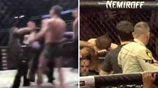 'Never Seen Before' Angle Of Conor McGregor Landing Huge Left Hook On Khabib's Teammate
