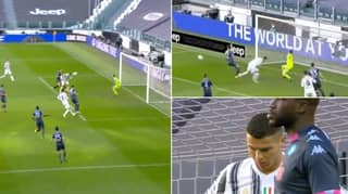 Cristiano Ronaldo Produces 'Miss Of The Season' By Heading Wide From A Few Yards Out