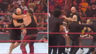 Tyson Fury And Braun Strowman Brawl On Monday Night Raw