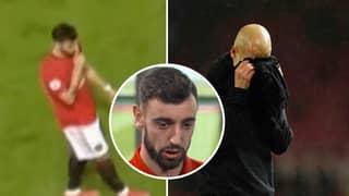 Bruno Fernandes Explains Why He Shushed Pep Guardiola In Manchester Derby