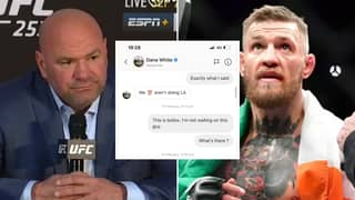 Dana White Finally Reacts To Conor McGregor Leaking Their Private Messages