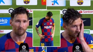 Lionel Messi Gives Emotional Interview After Barcelona Fail To Retain La Liga
