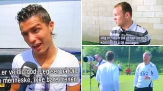 Footage Of Ronaldo And Rooney Rating Ole Gunnar Solskjaer When He Was A Rookie Coach In 2008
