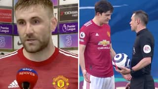 Luke Shaw Claims Referee Didn't Award Penalty Through Fear Of Controversy
