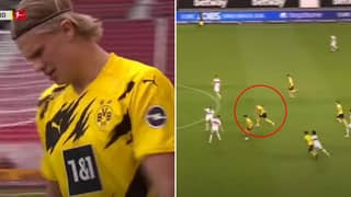 Erling Haaland Broke The Bundesliga Speed Record With Frightening 36.04 KM/h Run Vs Stuttgart