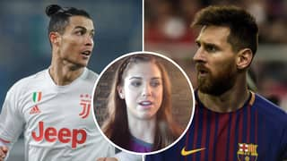 Alex Morgan Asked To Choose Between Lionel Messi And Cristiano Ronaldo