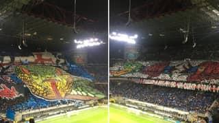 Inter And AC Milan Fans Have Incredible Tifo War At San Siro