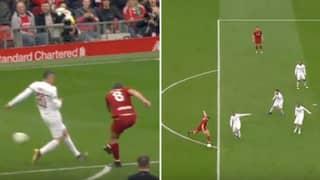 Steven Gerrard Scores Screamer In Front Of The Kop Against AC Milan Legends