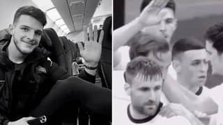 Declan Rice Was Left Hanging For Agonising Period Of Time By Harry Kane In England Celebration