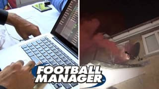 Man Sets Off Flare In His Bedroom After Winning The League On Football Manager