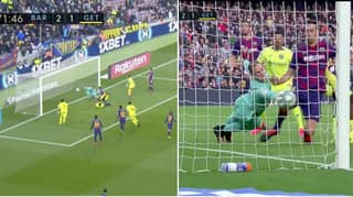 Marc-Andre ter Stegen Somehow Claws The Ball Off The Line During Insane Double Save