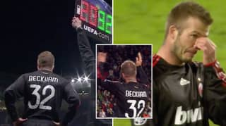 David Beckham Was Brought To Tears When He Received Standing Ovation On Return To Old Trafford With AC Milan
