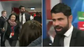 "Diego Costa Branded ""Inappropriate"" For Joke He Made About The Coronavirus Outbreak"