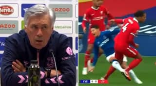 Carlo Ancelotti Called Out For Claiming Virgil Van Dijk Injured James Rodriguez