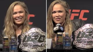 MMA Legend Ronda Rousey's Reaction To Being Hit On During UFC Press Conference Was Gold